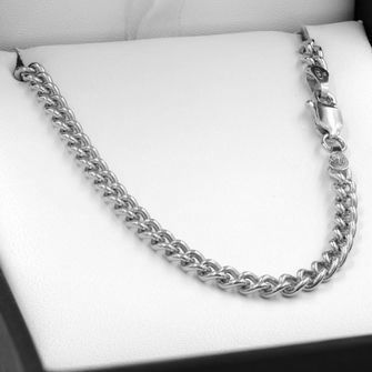 55cm Sterling Silver Round Curb Chain Necklace - SN-C100