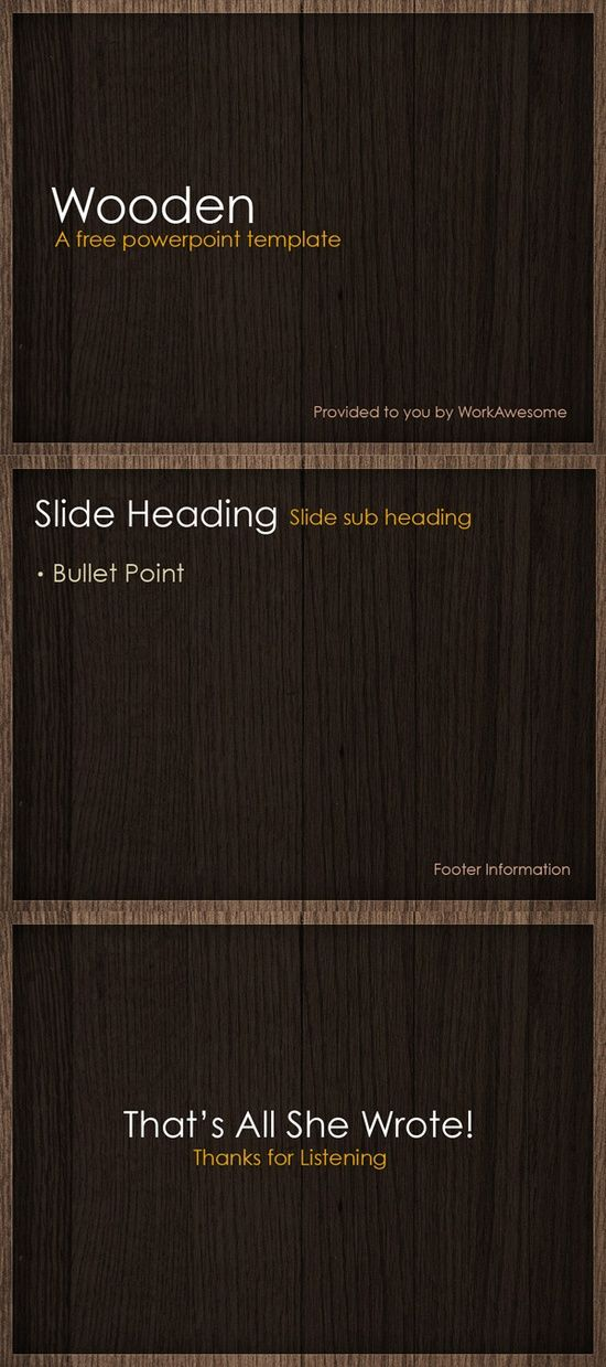 Free PowerPoint Template - Wooden