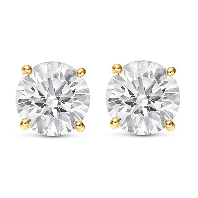 ad6365fa0 Solitaire Diamond, Diamond Stud, Diamond Jewelry, Diamond Earrings, Stud  Earrings, Wedding
