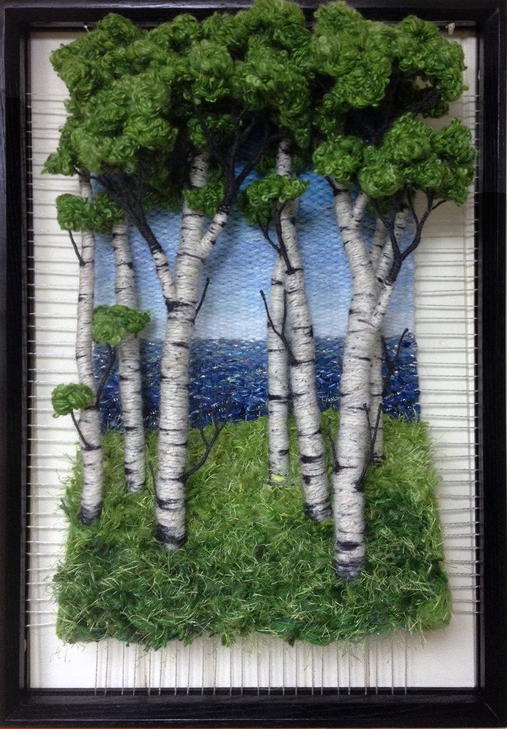 Martina Celerin Dimensional Weavings - Gallery - Looking At the Lake