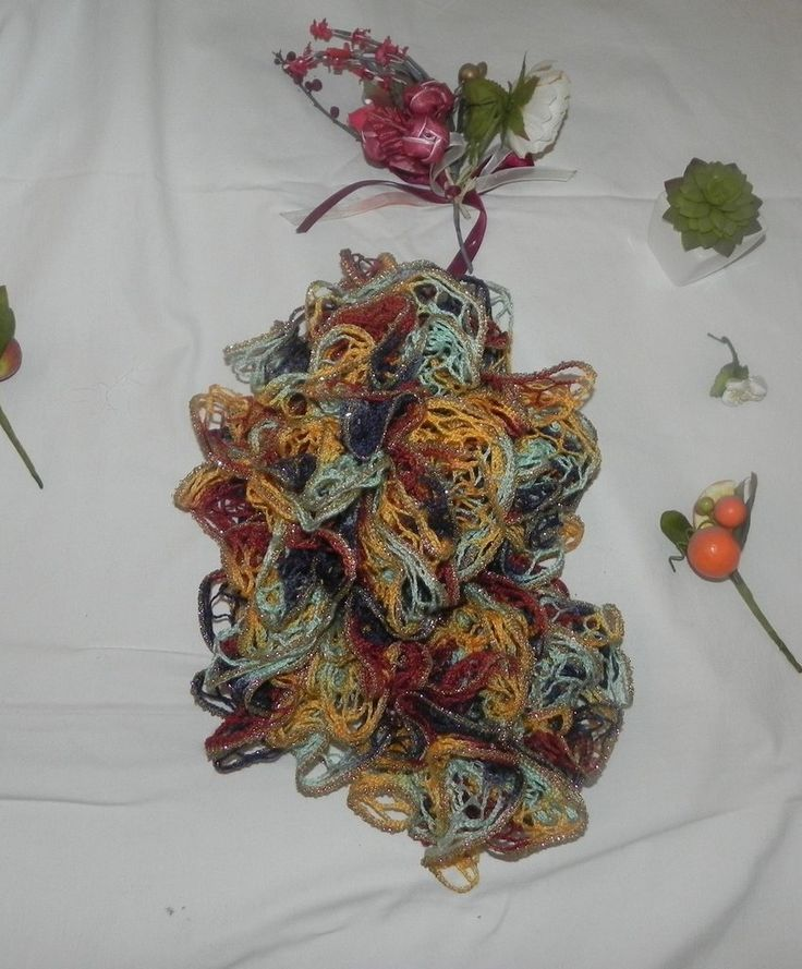 Sciarpa handmade filato volant con lamè, by Nuvola rossa, 11,50 € su misshobby.com