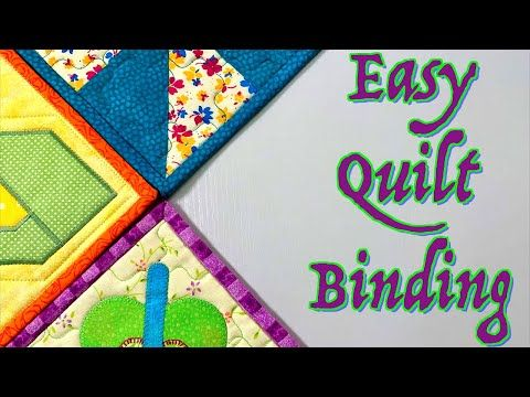 Easy Quilt Binding Tutorial For Beginners The Sewing Room Channel Youtube In 2020 Quilt Binding Quilt Binding Tutorial Easy Quilts