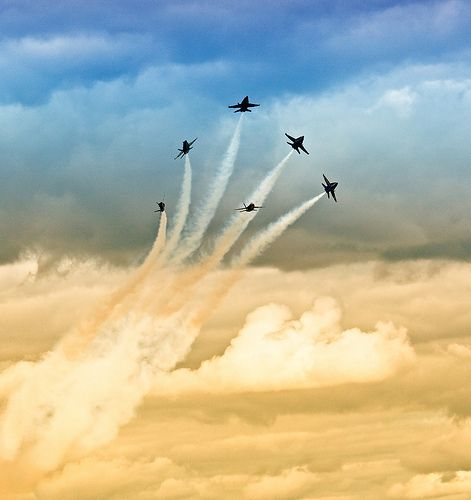 Blue Angels aerobatics