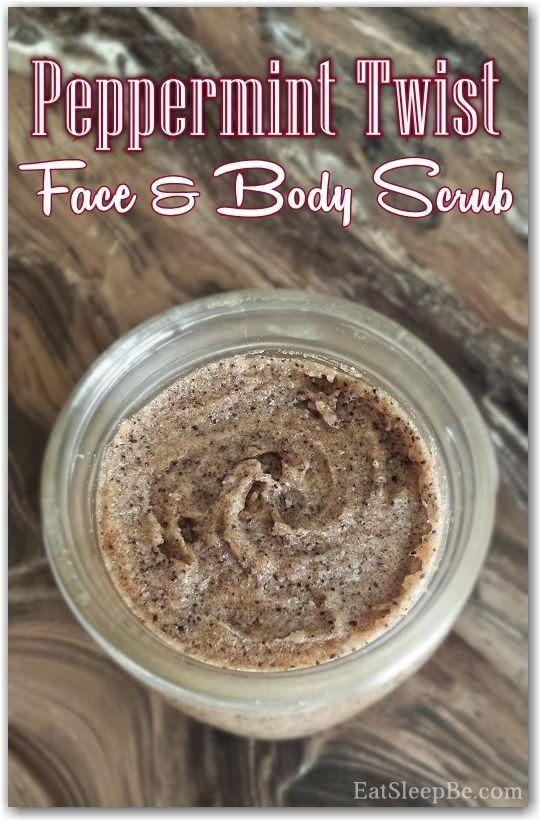 Peppermint Twist Face and Body Scrub - Eat. Sleep. Be. Doubling makes 3 half pint mason jars