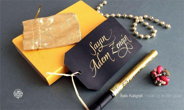 altın yazı kaligrafi