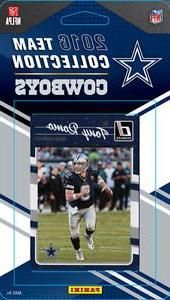 2016 Donruss Football Dallas Cowboys Team Set of 15 Cards in Factory Sealed Package: Tony Romo(#76), Darren McFadden(#77), Terrance Williams(#78), Jason Witten(#79), Dez Bryant(#80), Cole Beasley(#81), Sean Lee(#82), Alfred Morris(#83), Dan Bailey(#84), Emmitt Smith(#85), Charles Tapper(#308), Maliek Collins(#332), Dak Prescott(#362), Ezekiel Elliott(#368), Jaylon Smith(#373)
