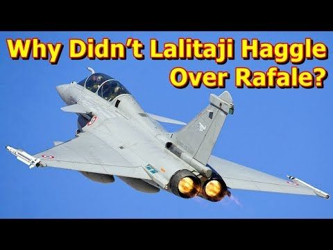 This video shows you that Why Didn't Lalitaji Haggle Over Rafale? One day in 1992, principal information officer S. Narendra was briefing the media on prime minister Narasimha Rao's visit to France. As a young reporter on the defence beat, I asked him if there would be a deal on the extra Mir...