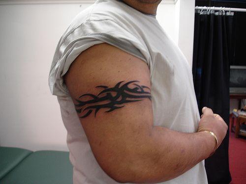 tribal armband tattoos   25 Incredible Tribal Armband Tattoos   CreativeFan
