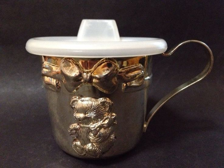 AS NEW - Unused - Vintage Avon Baby s First Silver Plated Sippy Cup - With Box