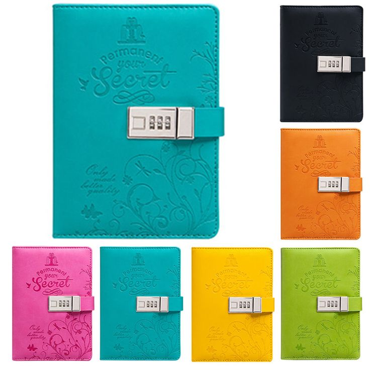 The Pocket PU Business Diaries Journal Notebook Secret Diary With Password Lock | eBay