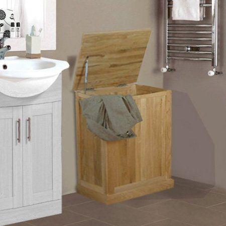 11 best panier à linge images on Pinterest Laundry hamper - meuble salle de bain panier a linge