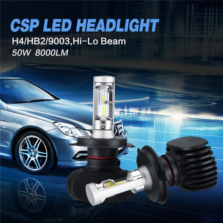 27.73$  Watch now - http://alinc8.shopchina.info/go.php?t=32746413485 - Ironwalls  H4/HB2/9003/H7 Plug LED Car Headlight Bulbs CSP Cree Chips 8000lm 50W 6500K Auto Fog Light For BMW Ford Toyota VW   #aliexpress