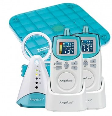 The Angelcare Movement and Sound Monitor Deluxe Plus pairs an 820-foot-range baby monitor with an under-the-mattress alarm that will sound if no movement is detected for 20 seconds.