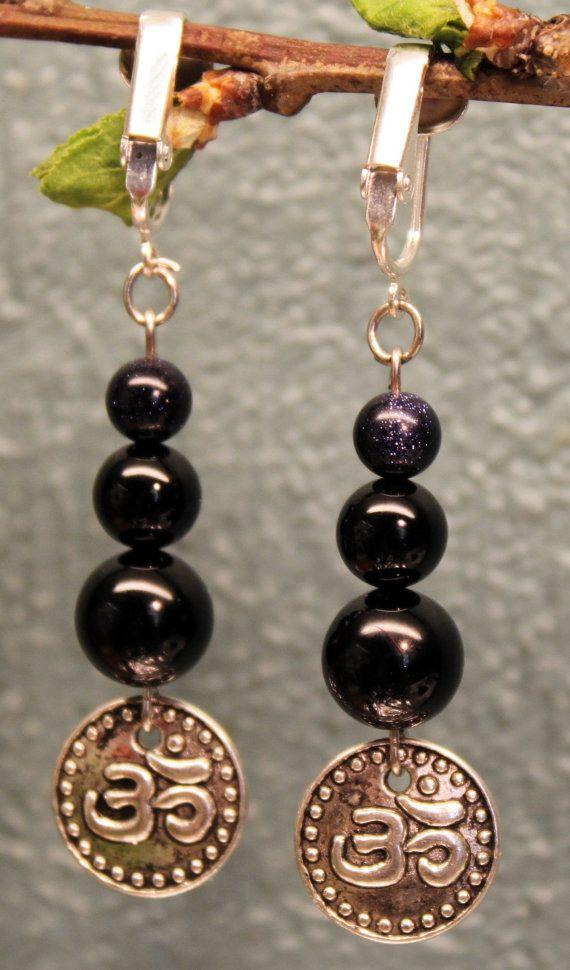 Om earrings by PlumaHandmade on Etsy