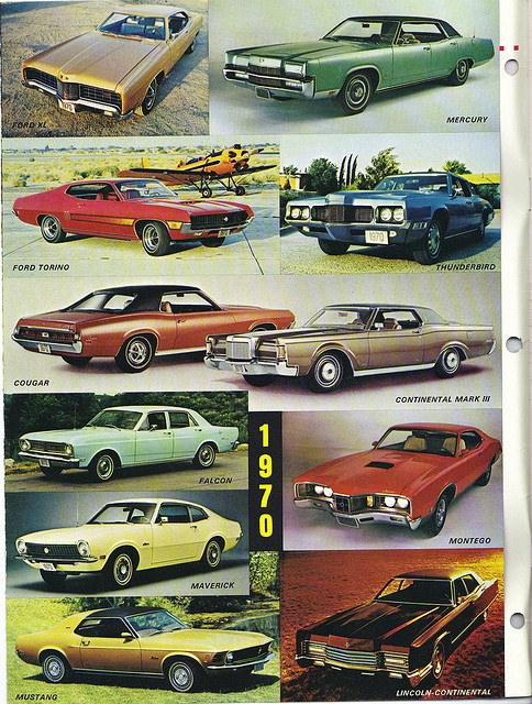 1970 Ford Lincoln Mercury poster