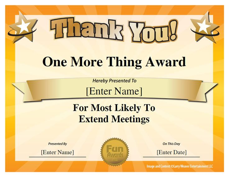 office awards templates - Onwebioinnovate - Silly Certificates Awards Templates