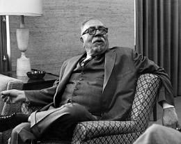 Norbert Wiener, the MIT mathematician best known as the father of cybernetics, whose work had important implications for control theory and signal processing, among other disciplines.