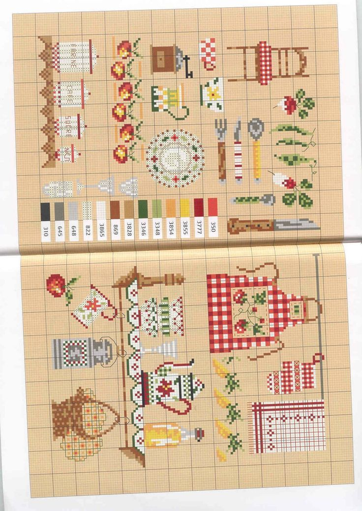100 ideas to try about charming cross stitch punto de for Cross stitch kitchen designs