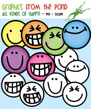 FREEBIE: All Kinds of Happy - Clipart for Teaching Resources (By Graphics From the Pond)