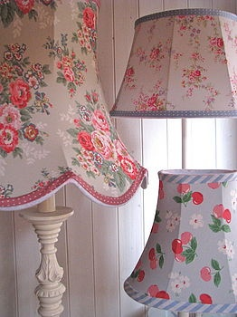 Handmade lampshades from The Old Lamp Shed