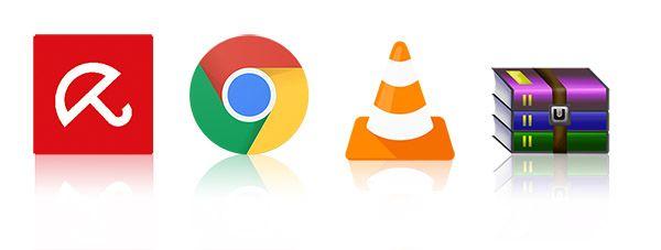 أهم اربعة برامج ضرورية لكل حاسوب ويندوز Tech Logos School Logos Google Chrome Logo