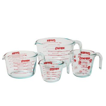 Pyrex 4 Piece Prepware Measuring Cup Set & Reviews | Wayfair