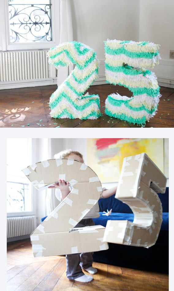 how to make a number pinata
