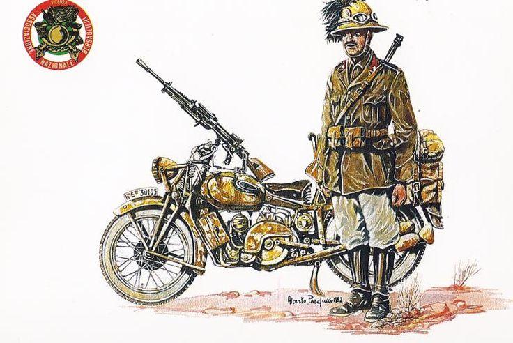Regio Esercito - Bersagliere Motociclista, Nordafrica 1940-43
