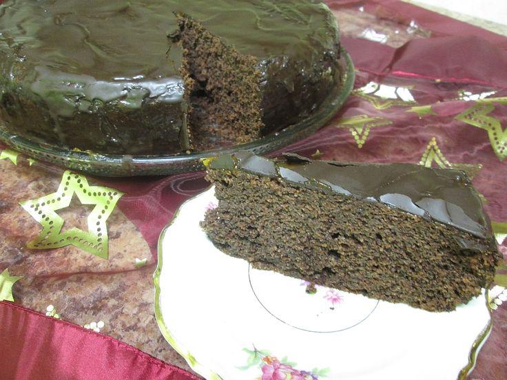 Tort czekoladowo - koniakowy
