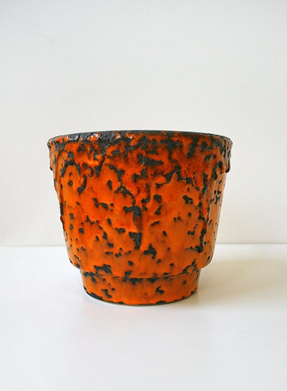 Vintage Fohr Keramik Deep Orange Fat Lava Ceramic by WestEstShop