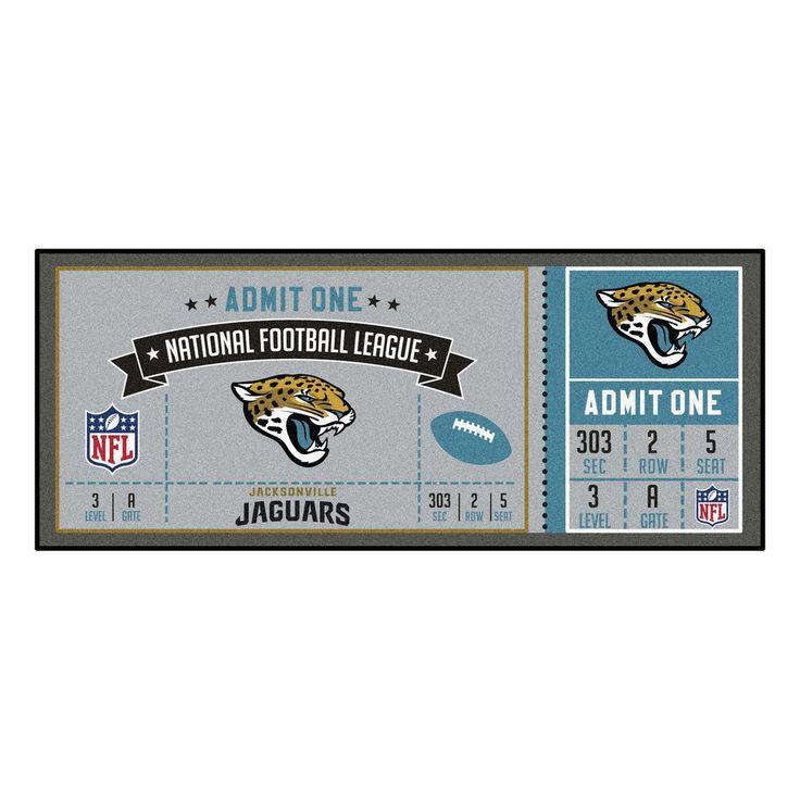"NFL - Jacksonville Jaguars Ticket Runner 30""x72"""