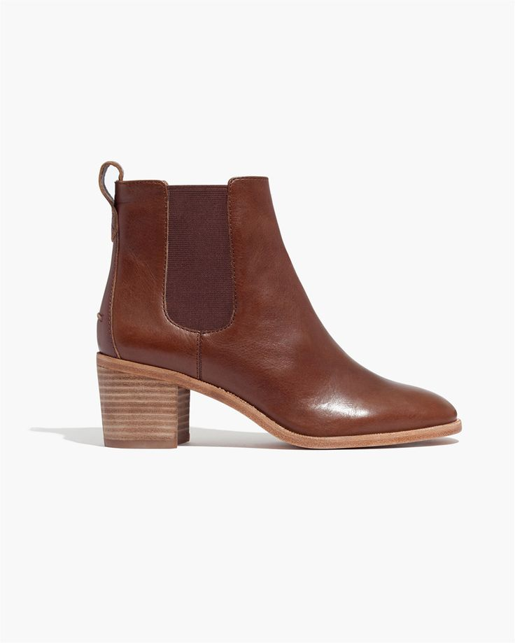Madewell Frankie Chelsea Boot in rich brown. #wellheeled