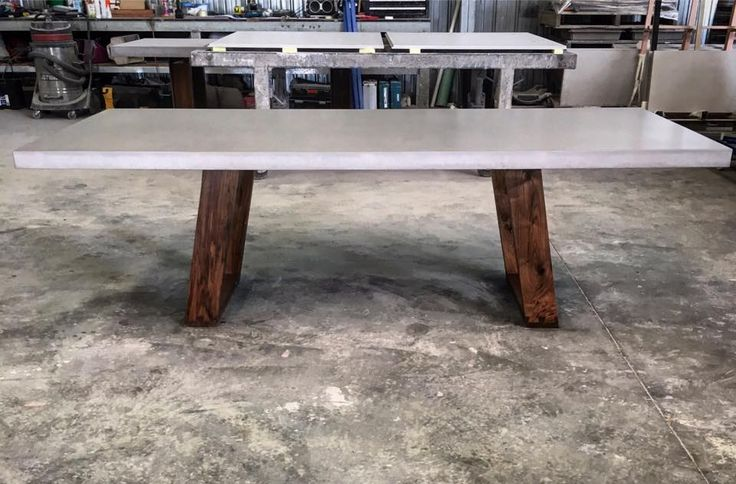 Polished Concrete Table Top With Timber Base By Mitchell Bink Concrete  Design. Www.mbconcretedesign