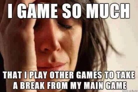 Video Game Memes: Sometimes it's nice to put down the video game and take a break with a nice relaxing video game