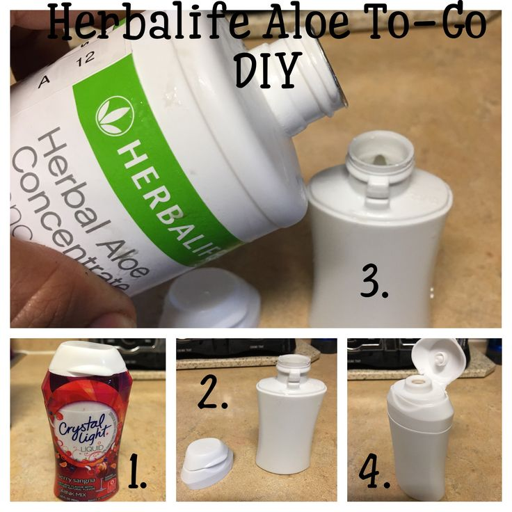 DIY Herbalife Aloe To-Go. Turn your Empty Water Flavor Bottle into a great To-Go Bottle for your Aloe Concentrate