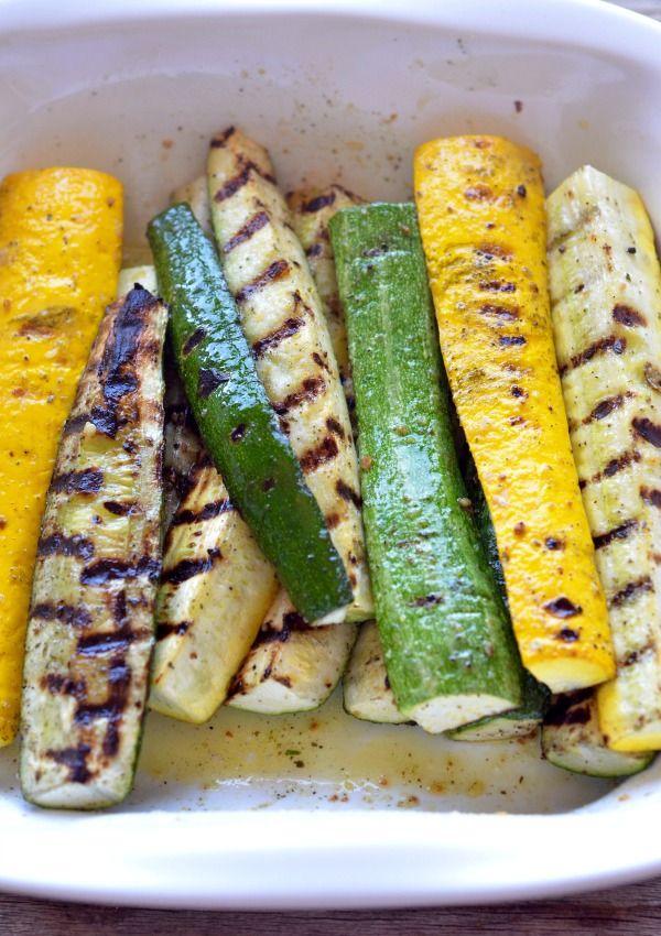 Grilled Zucchini with Feta, Lemon & Fresh Herbs | mountainmamacooks.com