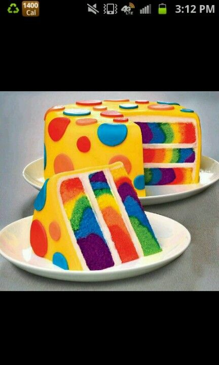 Polka Dots, Stripes & even rainbows (cake)