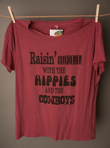 "Gina ""Raisin Hell with the Hippies..."" Tee"