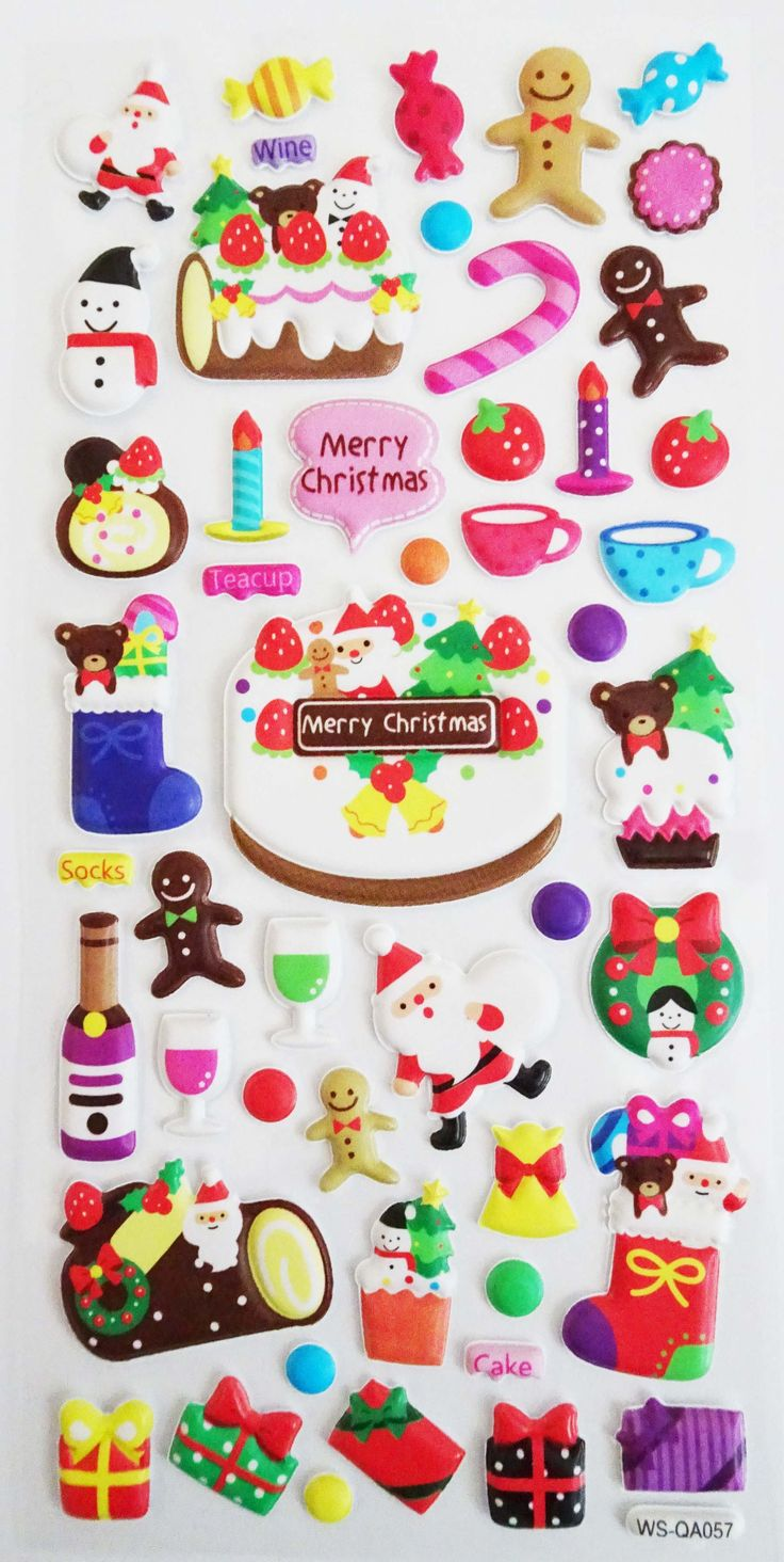 North Pole Party Christmas Stickers. Ships worldwide from Canada!