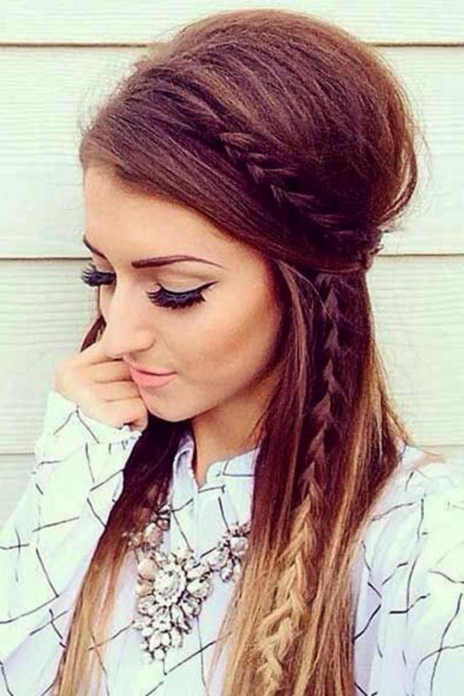 long hair styles down best 20 hairstyles ideas on half 8496 | c759e19a15dd8527a6f6a0fda2bf7cdc half up half down hair easy long half up half down hairstyles easy