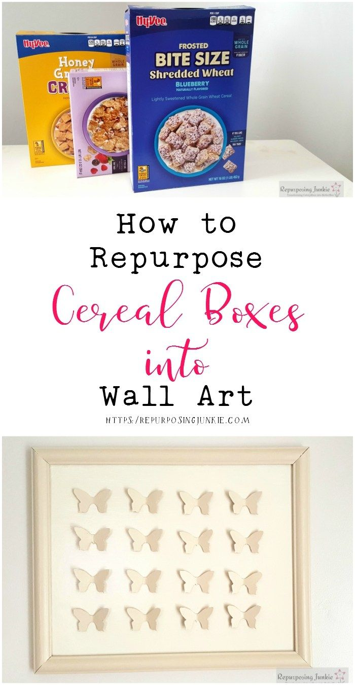 How to Repurpose Cereal Boxes into Wall Art