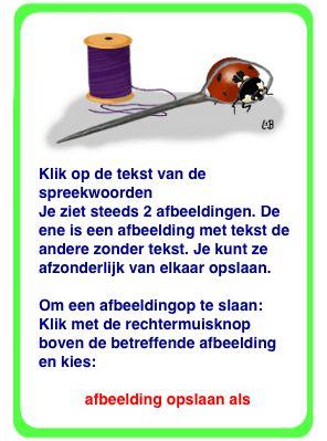 Spreekwoorden | Link werkt niet. Zoek via www.juflia.nl verder.