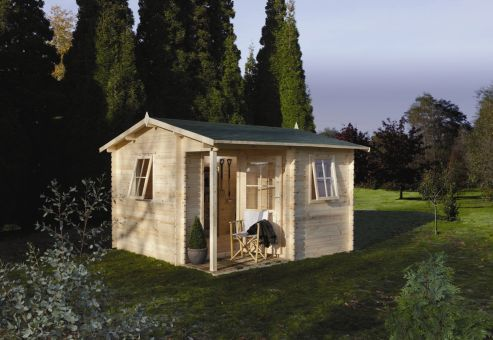 The Malvern is a spacious log cabin, with an integral porch creating a roomy interior with separate work space ideal for a desk, chair or workbench. Leekes - http://www.leekes.co.uk/log-cabins/malvern-log-cabin/invt/501759&bklist=icat,2,logcabins