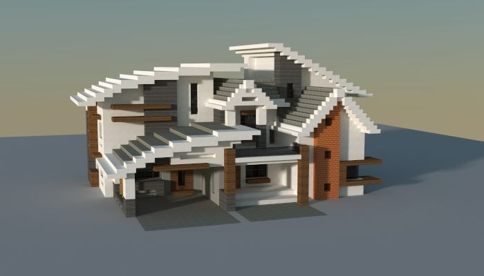 House i made in minecraft