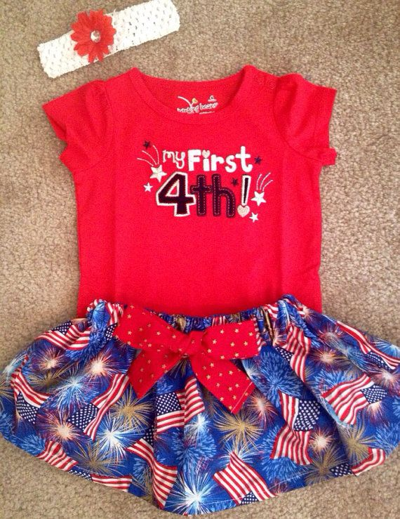 4th of july dress baby girl