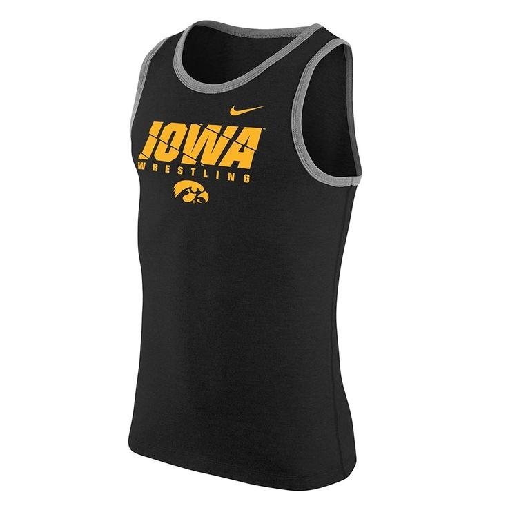 Iowa Hawkeyes Wrestling Nike Core Cotton Tank