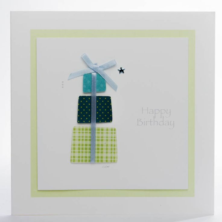 Sweet and Simple Large|Birthday Parcel Green Card