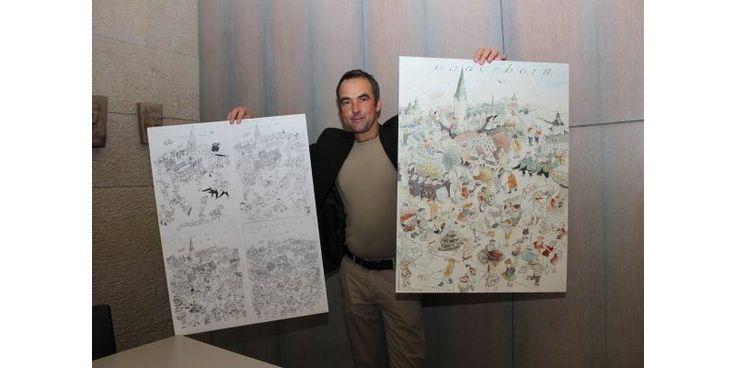 Künstler gestaltet ein Lemgo-Wimmelbild | Lemgo - LZ.de