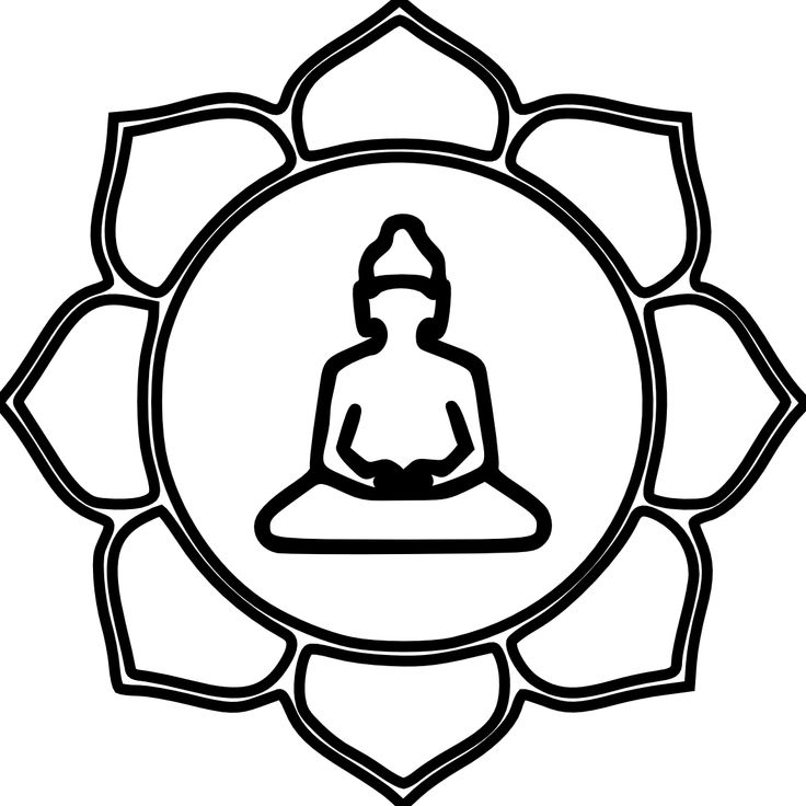 Buddha Flower Color Black White Line Art Coloring Book Colouring ... - ClipArt Best - ClipArt Best