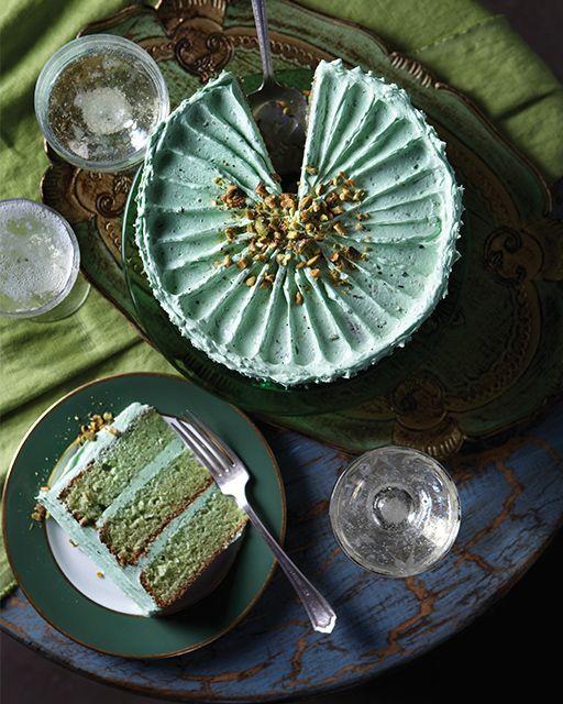 Pistachio Layer Cake - http://www.sweetpaulmag.com/food/pistachio-layer-cake #sweetpaul